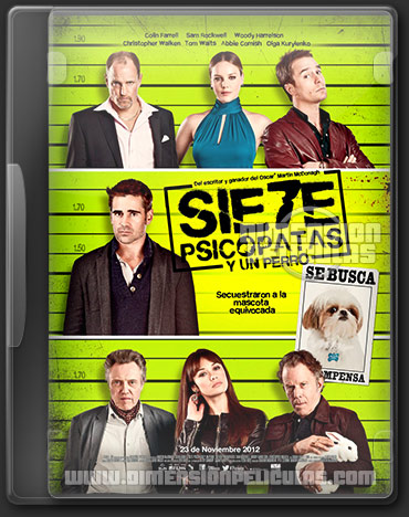 Seven Psychopaths (DVDRip Español Latino) (2012)