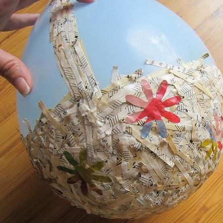 Canastas Recicladas para Pascua