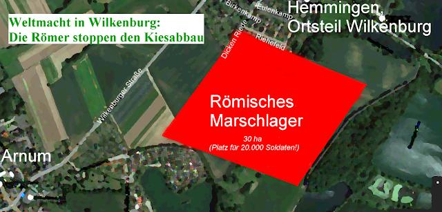 Römerlager für 20.000 Mann  in Wilkenburg