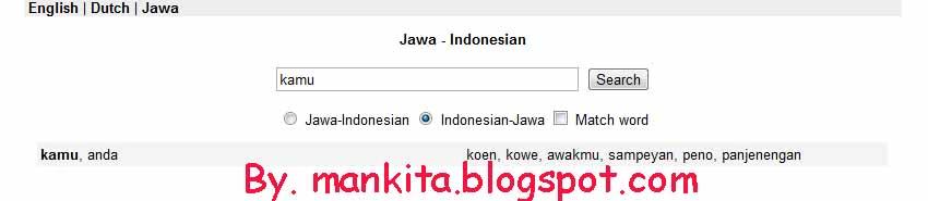 Cara Translate Bahasa Jawa ke Bahasa Indonesia