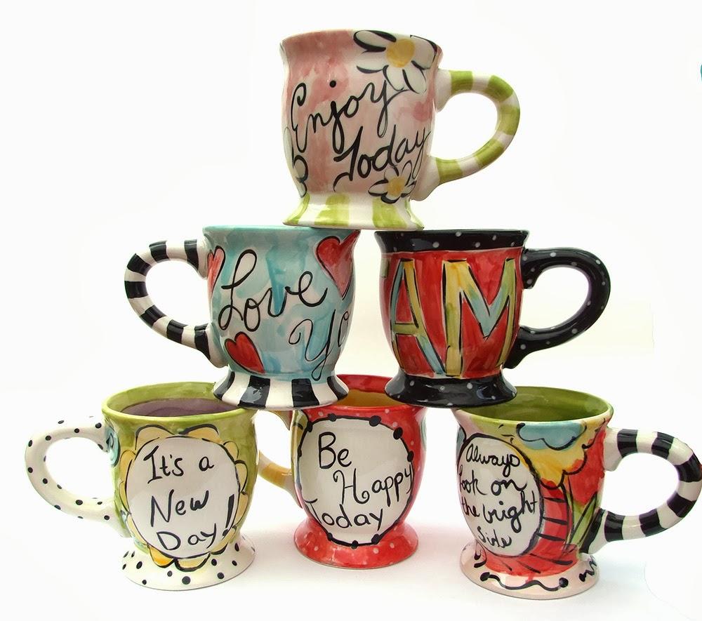 Jennifer jangles blog painting pottery for Mug painting designs