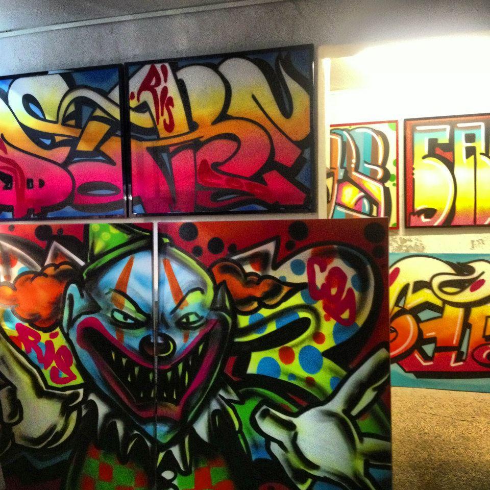 graffiti kunst på lærred