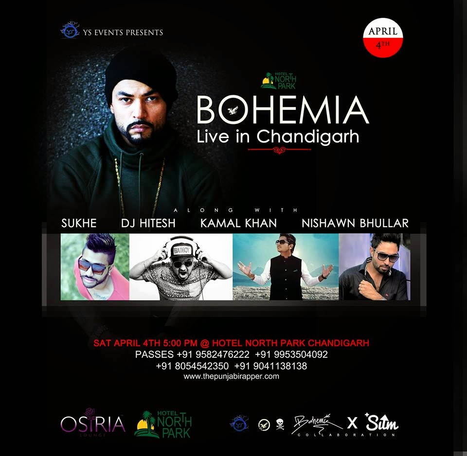 BOHEMIA - Live in Chandigarh - April 4th 2015 - the punjabi rapper