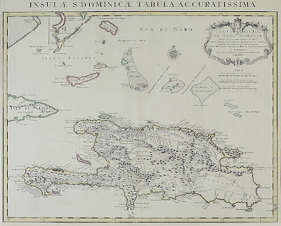 Mapa la República Dominicana del año 1722