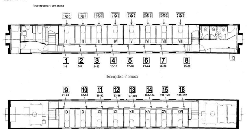 Двухэтажные сидячие вагоны ржд схема вагона