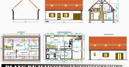 Plans de maisons au format dwg gratuits free dwg for Plans de maisons individuelles gratuits