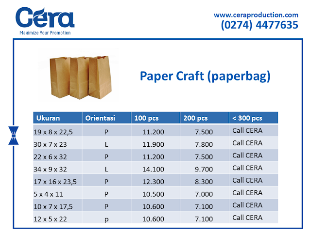Harga Craft Paper Bag - ceraproduction