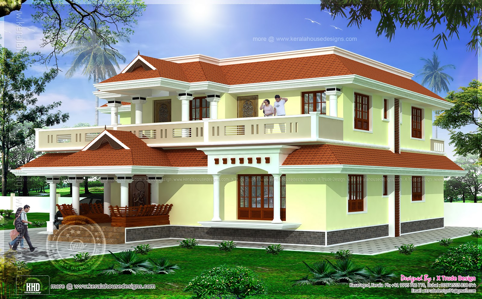 4 Bedroom Luxury Home Exterior Elevation Home Kerala Plans
