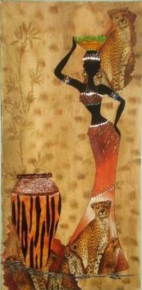 Negras Africanas Em Tela C Decoupage