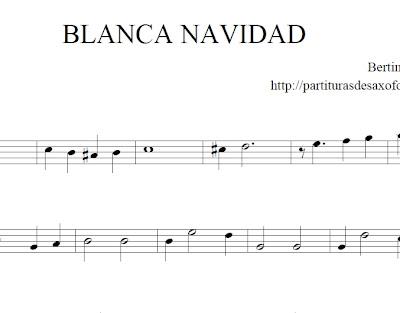 Partituras para principiantes partituras navide as - Blanca navidad partitura ...