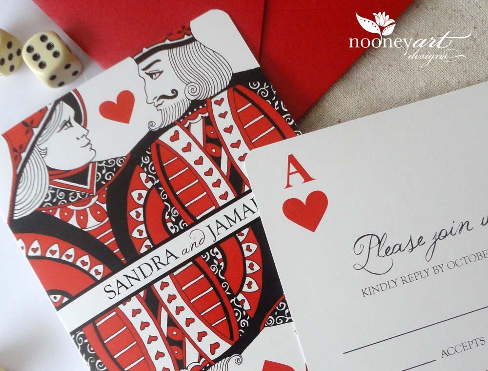 Las Vegas Wedding Playing Card Wedding Invitations and Save The – Las Vegas Wedding Invitation Ideas