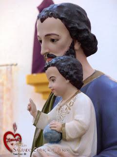 Imágens da Santa Missa e penúltima noite do novenário em honra a São José