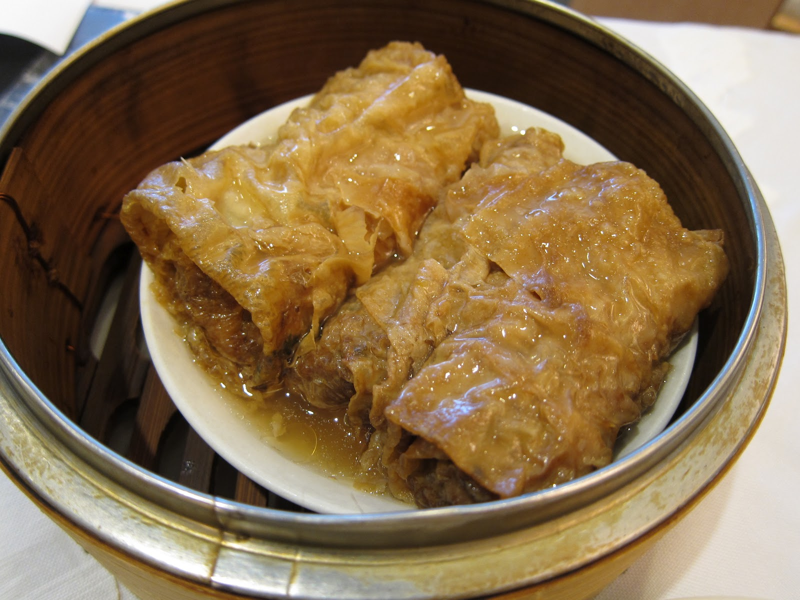 Haw Gow, or shrimp dumplings, are a dim sum staple. These were chock ...