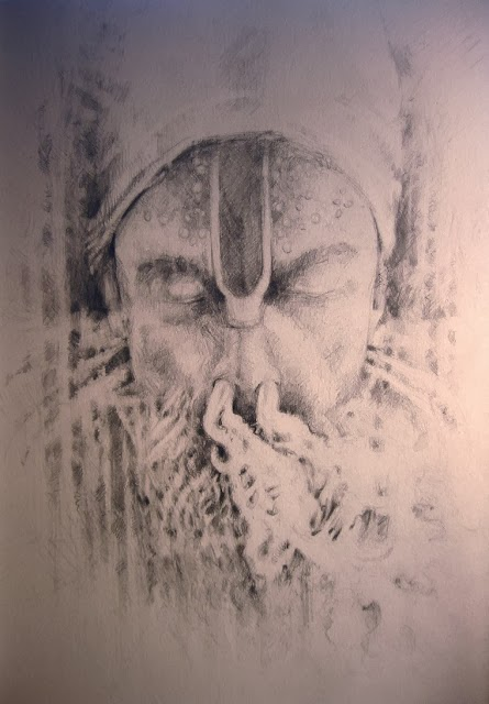 Mystic... a drawing by kevin gough