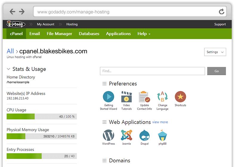 Hébergeur Web GoDaddy - Hebergement Site Internet