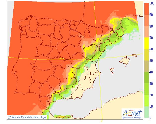 lluvia viento y frío martes 15 septiembre España