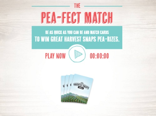 Harvest Snaps The Pea-Fect Match Memory Contest