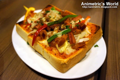 Sausage and Bacon Pizza Toast at UCC