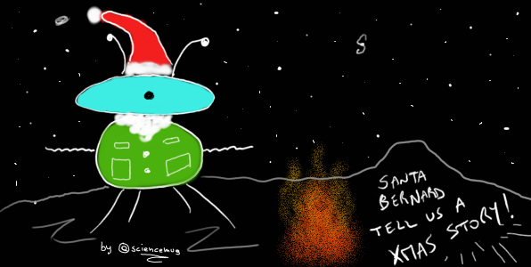Santa Bernard and the jellies_by sciencemug