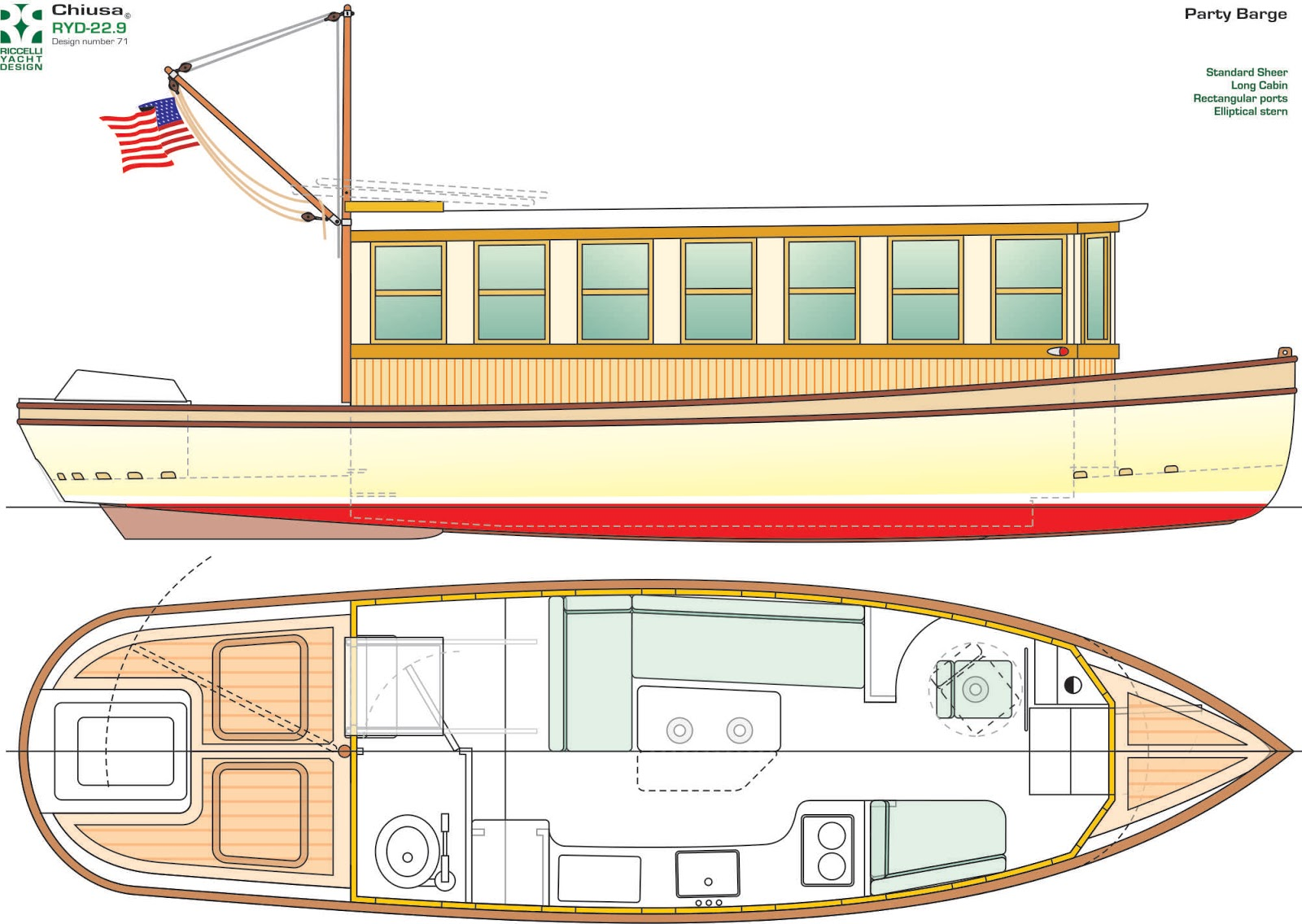 Houseboat plans grice for Boat house designs plans