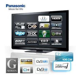 42-Zoll-Plasma-TV Panasonic TX-P42G30E bei iBood für 508,90 Euro (Vergleichspreis: 595,66 Euro)