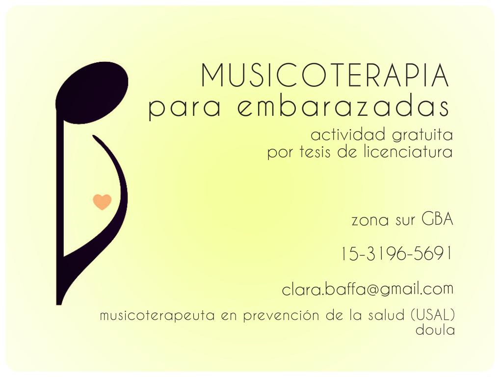 Embarazo y musicoterapia