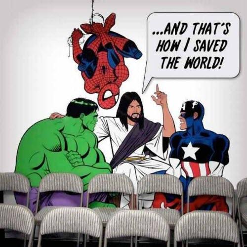 Jesús y los Vengadores!