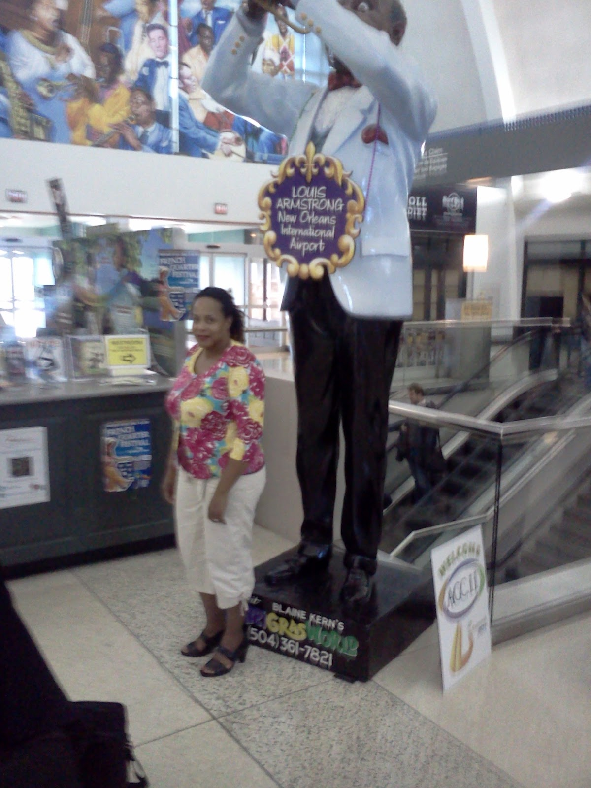 Louis Armstrong Statue New Orleans International Airport