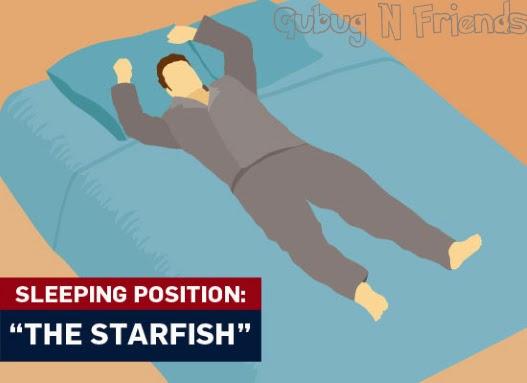 posisi-tidur-telentang-starfish
