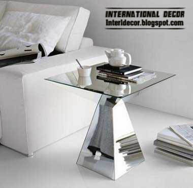 mirrored furniture, mirrored coffee table
