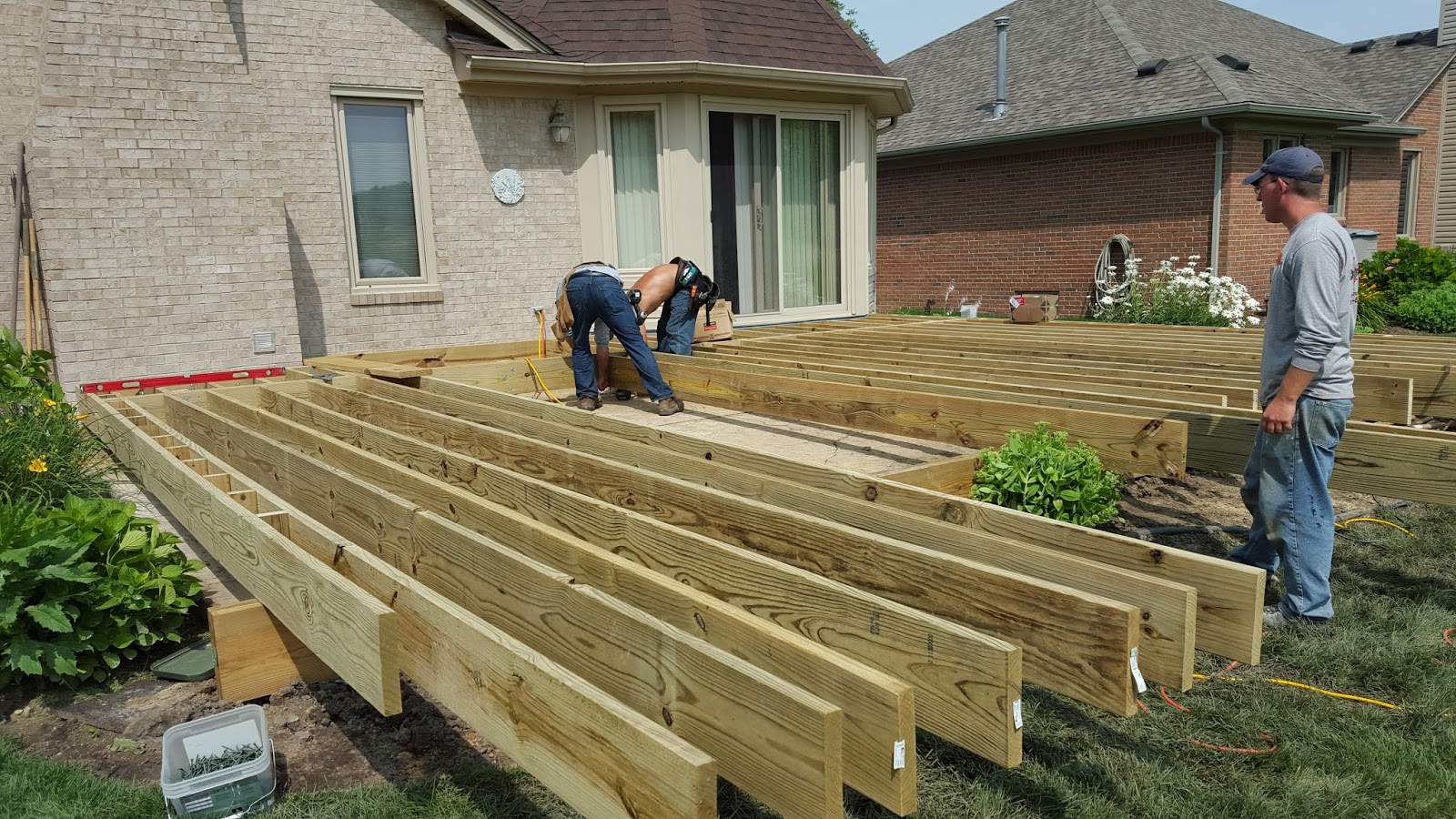 Outdoor living how to build a low to the ground deck for How to build a low deck