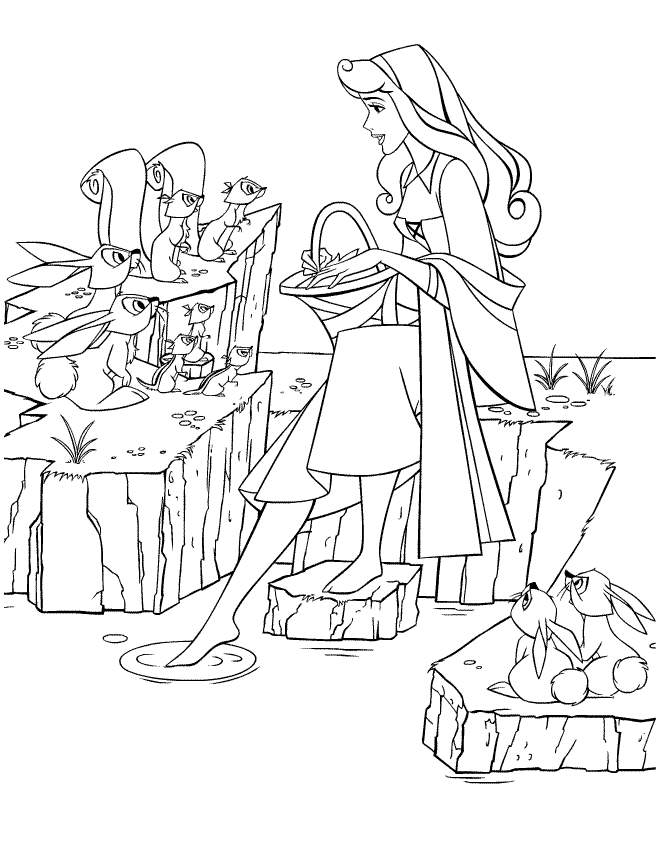 sleeping beauty coloring pages disney - photo#34