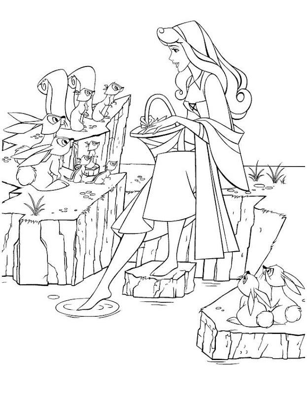Disney Princess Aurora Coloring Pages title=