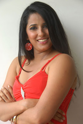 beautiful Shravya reddy in red dress hot photos gallery