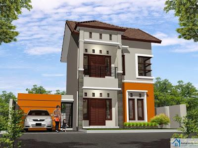 Desain Rumah Minimalis 2 Lantai Type 60 Terbaru