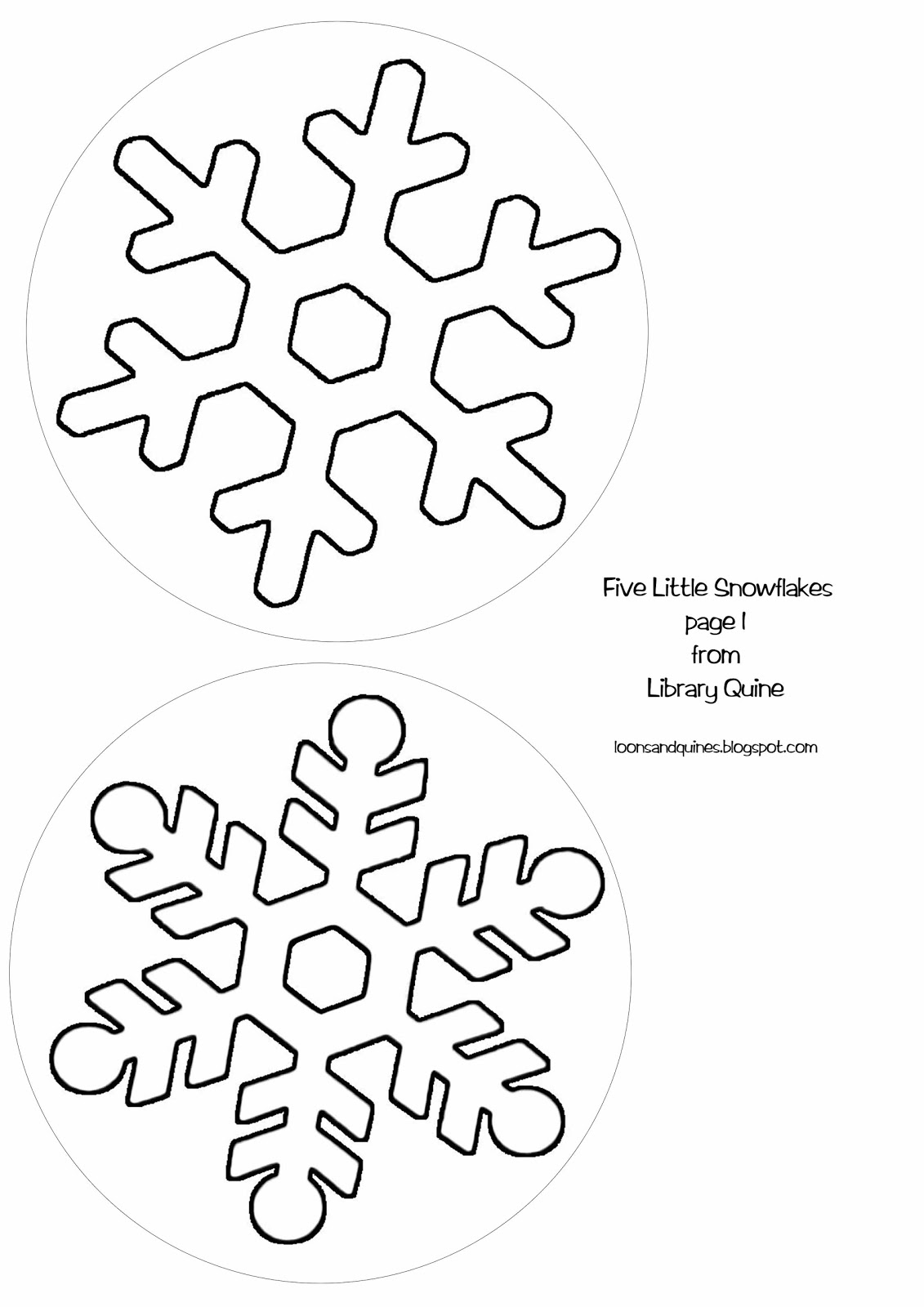 Snowflake Template Snowflake template for writing