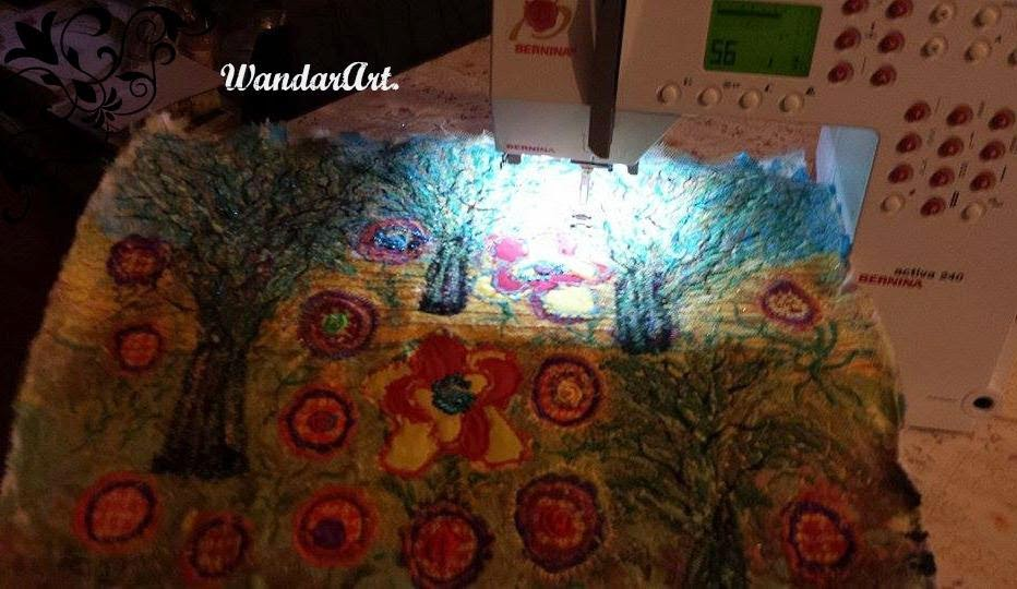 Sewing embroidery  nature