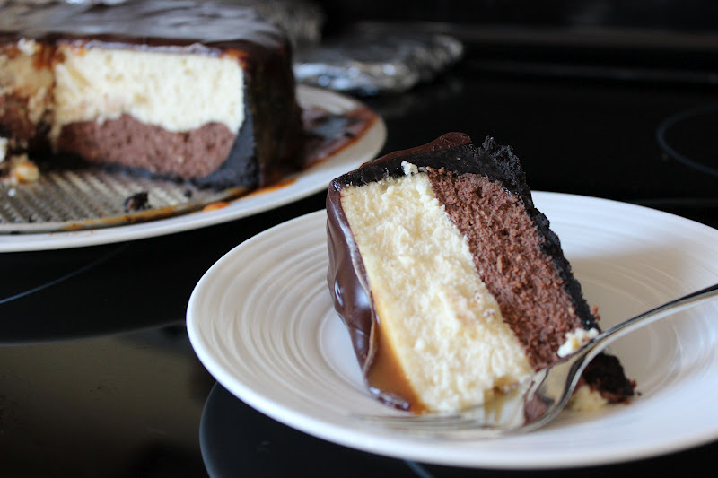 Naked Cupcakes: Chocolate Caramel Cheesecake