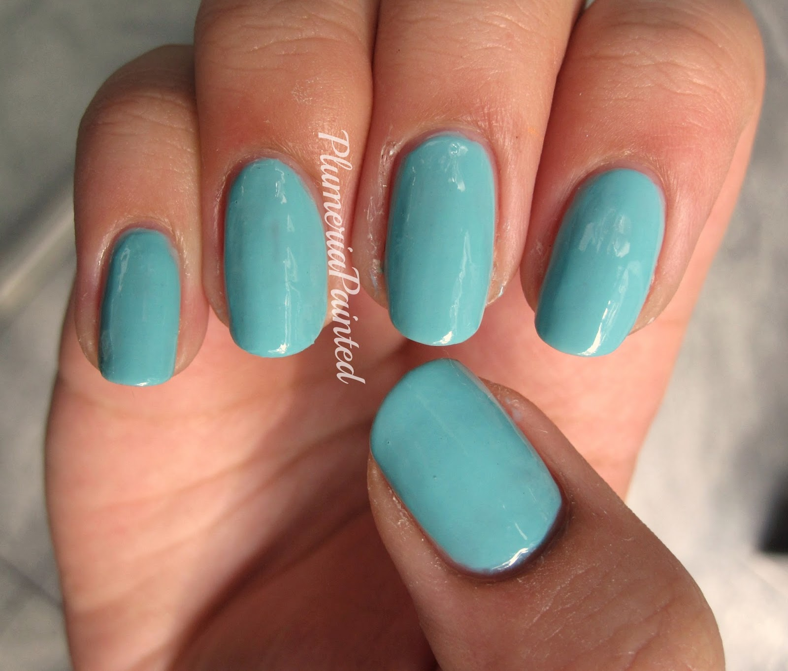 PlumeriaPainted: Green Nails: Rimmel - Misty Jade