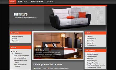 Free Professional Furniture Blogger Template