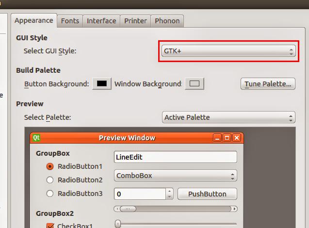 Configure para o QT utilizar temas GTK+