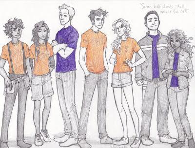 Leo, Piper, Jason, Percy, Annabeth, Frank a Hazel podle burdge-bug
