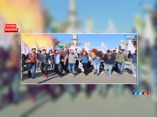 (لحظة الانفجار) .. مقتل 80 شخصاً وإصابة 126 آخرين بتفجير قرب محطة القطارات في العاصمة التركية أنقرة