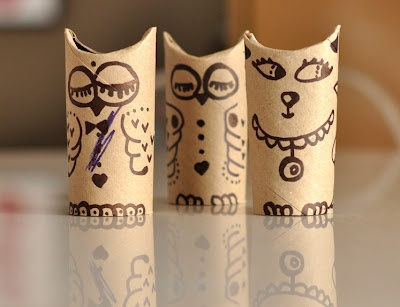 cute toilet paper roll animals