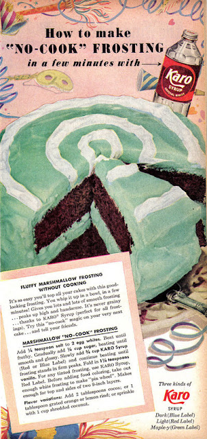 Dying for Chocolate: Marshmallow No-Cook Frosting: Karo Syrup Retro Ad