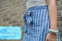 Natural Nesters Men' Shirt Turned Adorable Skirt