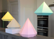DIY Diamant lamp