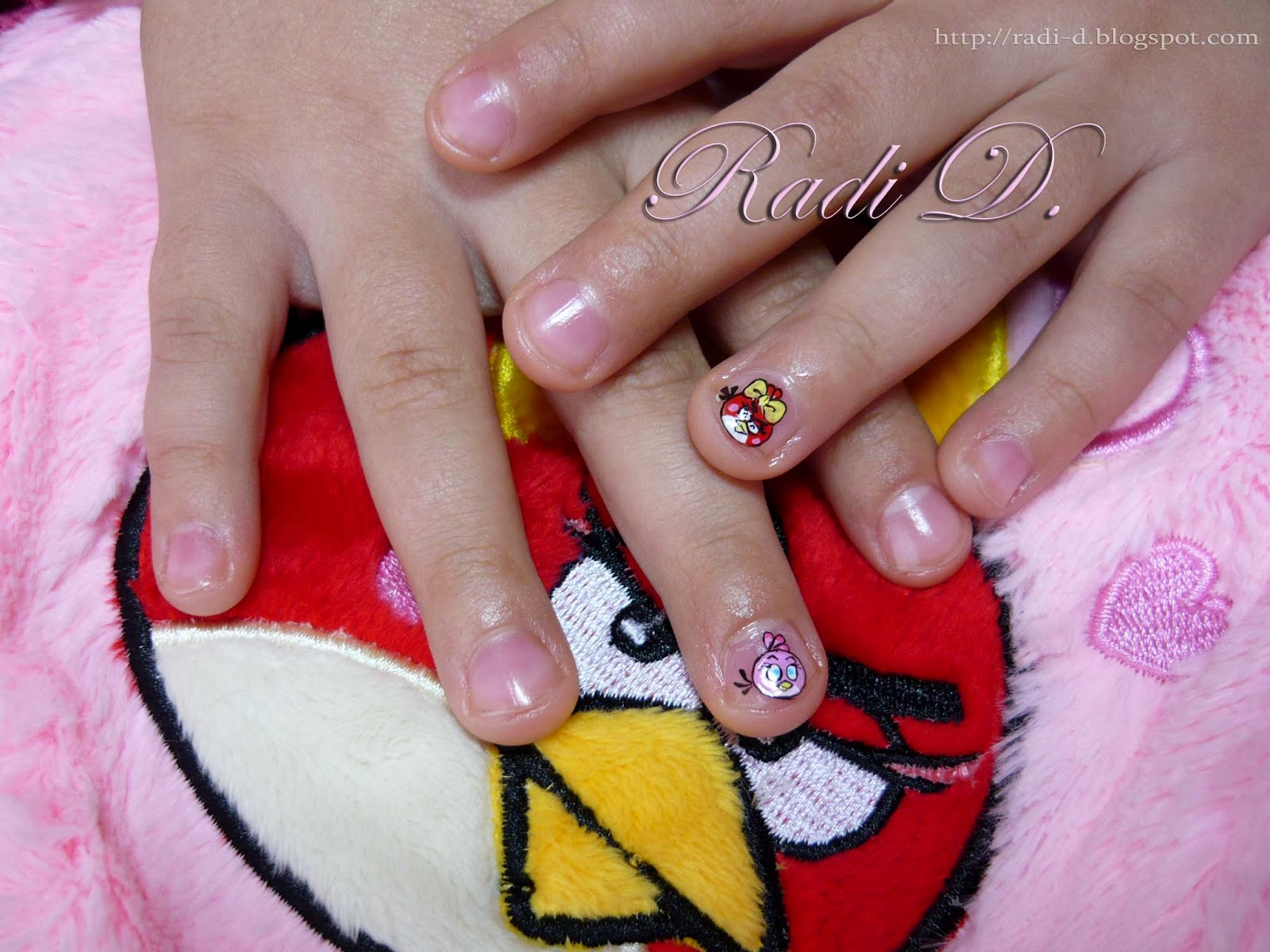 It`s all about nails: My daughter`s Angry Birds nails