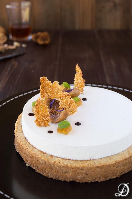 Tarta de Queso con Higos y Mousse de Moscatel
