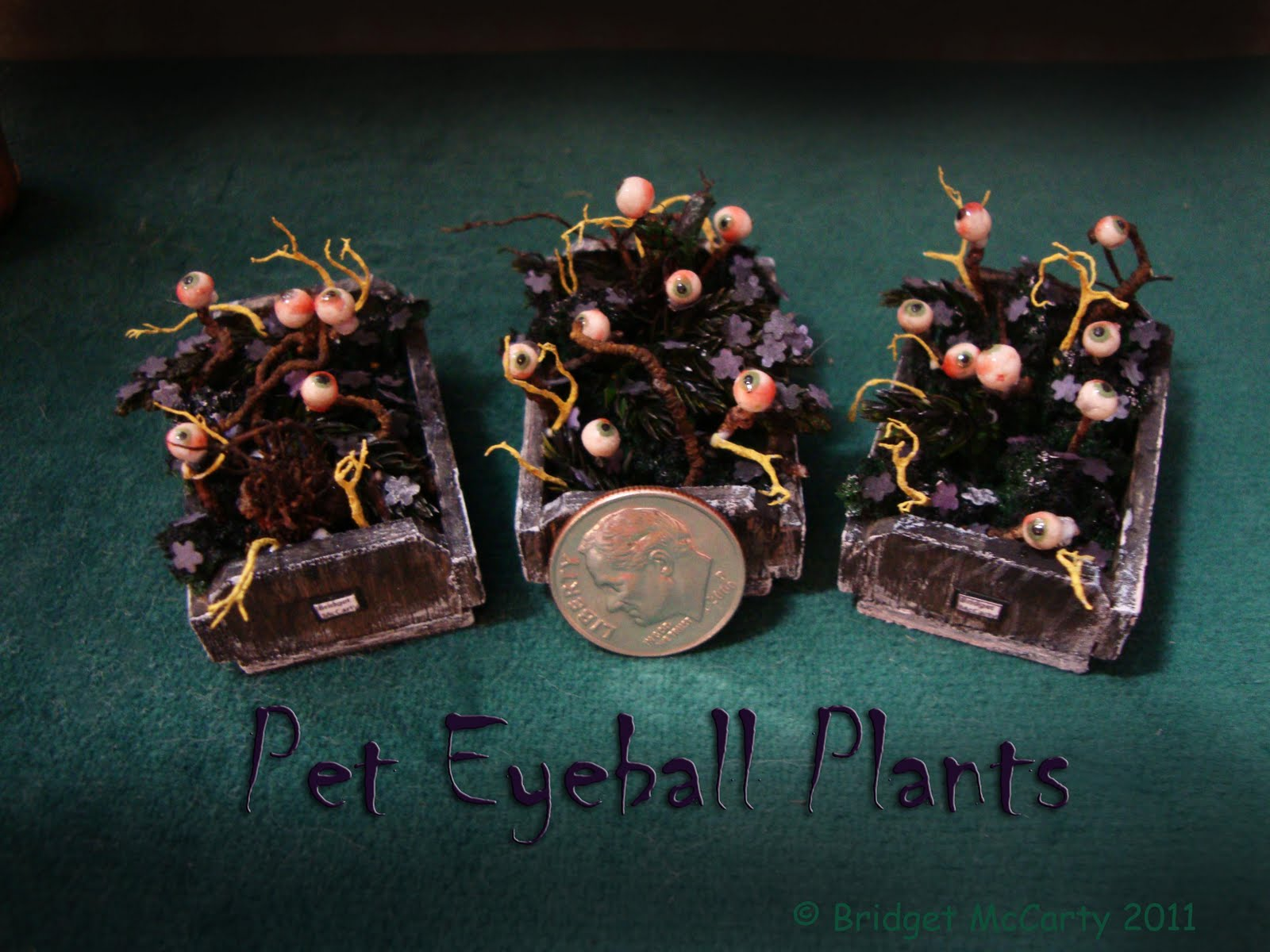 new dollhouse miniature halloween pets bridget mccarty